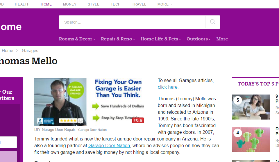 Tommy Mello about.com post